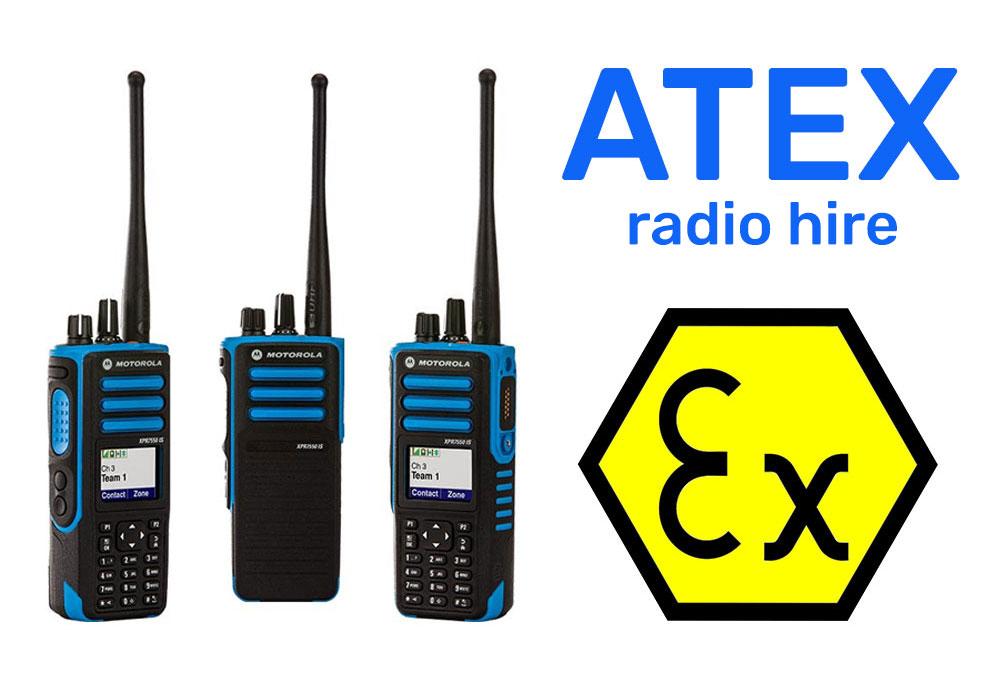 atex sign and motorola atex radios