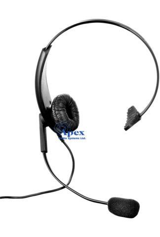 Lightweight Headset, Single Ear with Headband and InLine PTT Compatible with: XT420 / XT460 / XT660